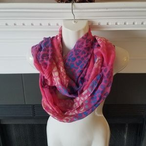 Accessories - Pink & Red & Blue Infinity Scarf